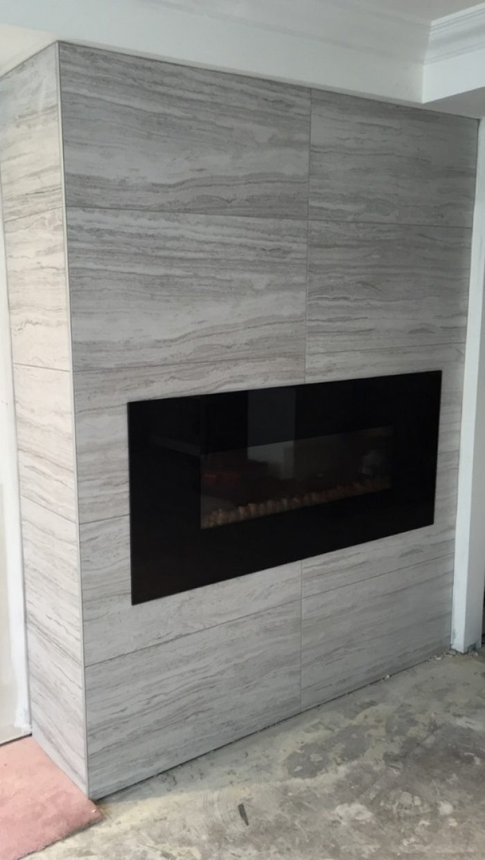 Beautiful fireplace Facade
