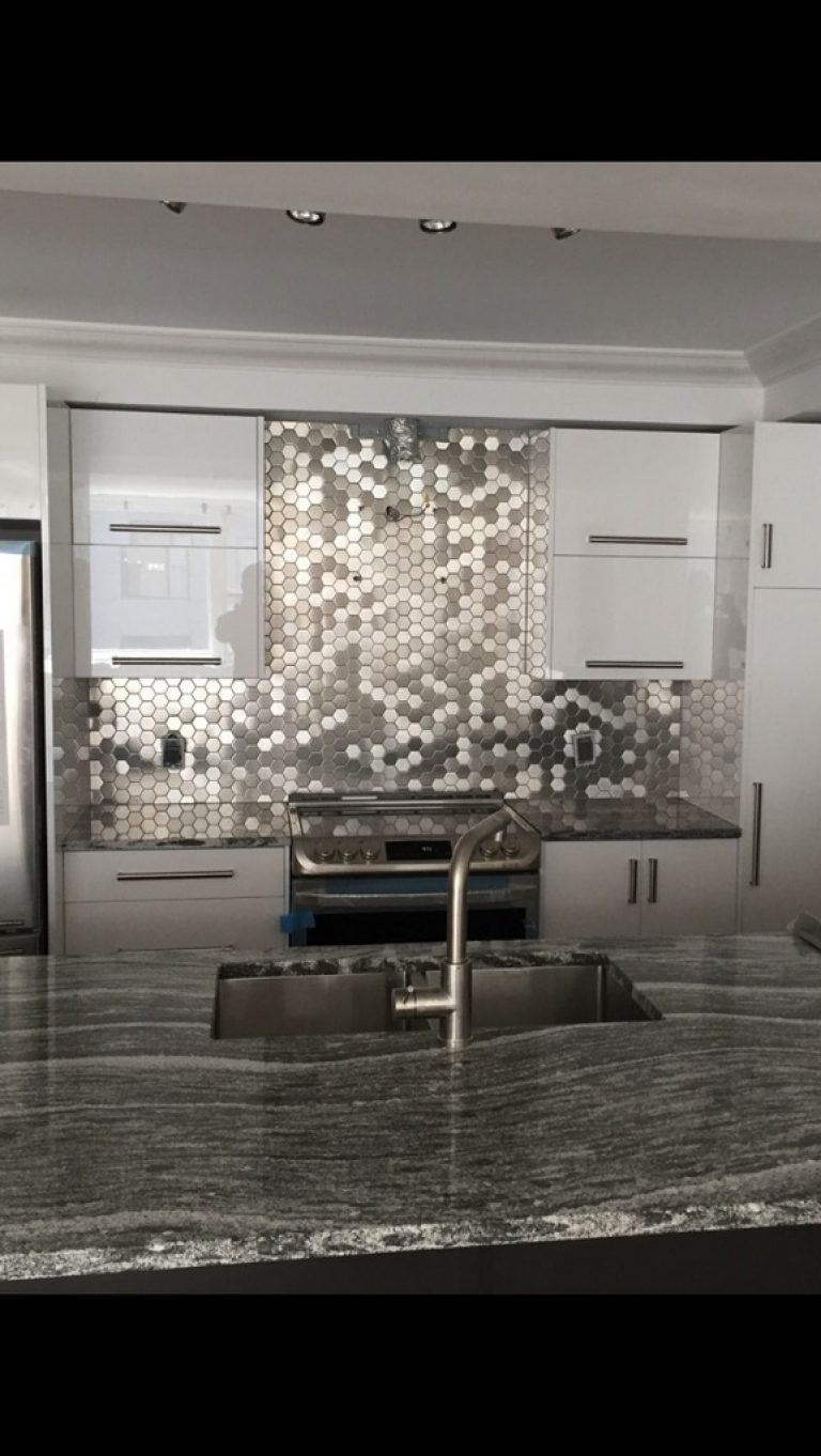 Modern Stainless Steel Hexagon Mosaic